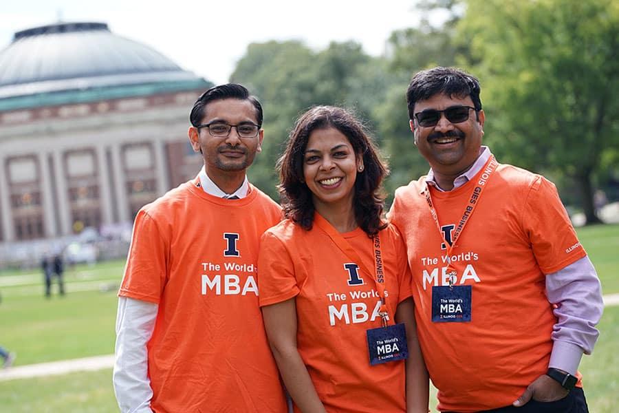 iMBA students at the University of Illinois