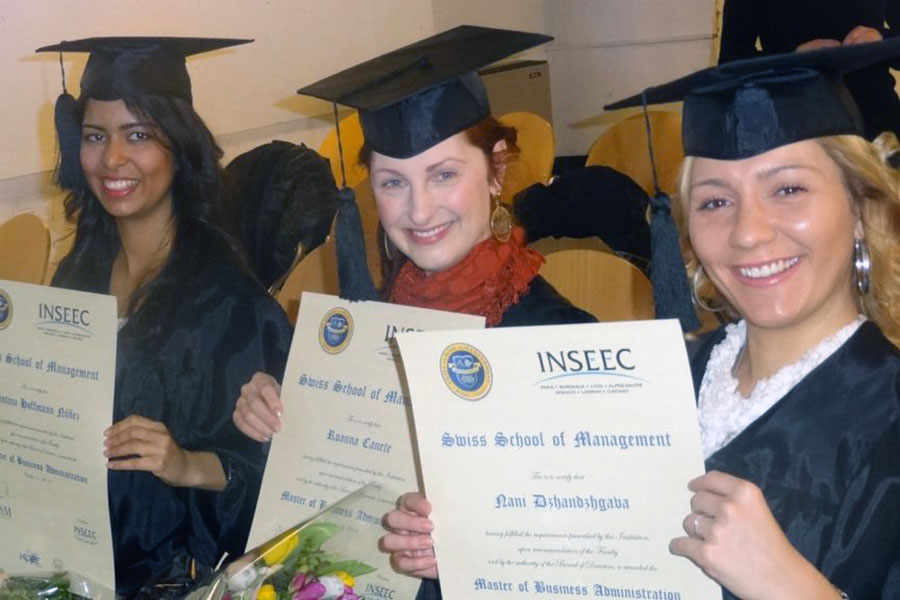 Swiss School of Business and Management (SSBM) MBA graduates